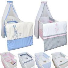 4-20 tlg. Baby-Bettset mit Stickerei Bettwäsche Himmel Wickelauflage NEU
