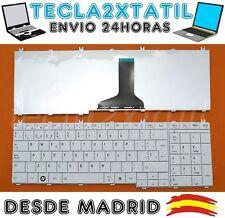 TECLADO PARA PORTATIL Toshiba Satellite C660-155 EN ESPAÑOL BLANCO WHITE