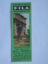 Vecchio SEGNALIBRO FILA Monumenti d'Italia ROMA ARCO DI TITO Giotto bookmark *