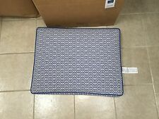 Frontgate Outdoor Patio Kensington OTTOMAN Cushion Michelle Cobalt Blue 27x22
