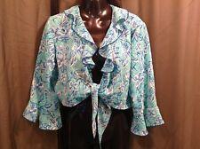 BFA CLASSICS Semi Sheer FLY AWAY Cover-up BOLERO Vest Women's Size 10 P