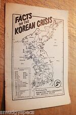 1950 FACTS ON THE KOREAN CRISIS PRO NORTH KOREA PAMPHLET