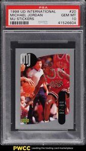 1998 Upper Deck International MJ Stickers Michael Jordan #20 PSA 10 GEM MINT