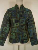 Beautiful Women's XS Coldwater Creek Blue Floral LS Zipper Lined Blazer Jacket