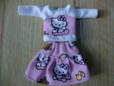"Blythe/Skipper Doll Clothes Pink ""Hello Kitty"" Skirt & Top"