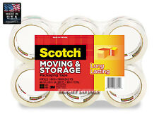 3M Scotch Moving & Storage Packing Tape - 6 Rolls Shipping Packaging