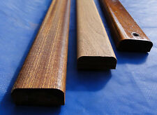mahogany sapele quality moulded  bench seat slats 60cm (2 foot) x 60mm x 20mm