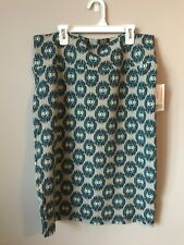 Lularoe XL Cassie Teal And Blue Circles On Gray Background. New With Tags.