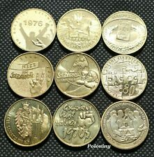 Lot Of Nine Commemorative Coins Of Poland - The Road To Freedom Solidarnosc