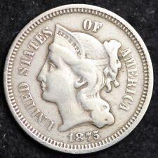 1875 Three Cent Nickel Piece CHOICE VF FREE SHIPPING E183 WNT