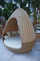 Reelaxx Egg - Rattan Oase Sonneninsel Gartenmöbel Lounge Sonnenliege Strandkorb