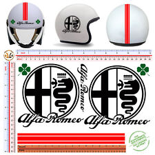 Adesivi casco fustellato alfa romeo sticker helmet tuning decal motorcycle 8 pz.