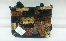 Donna Sharp Quilted Handbag Purse Evening Bag DragonFly JENNA Med