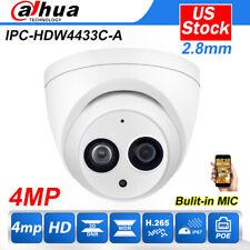 Dahua IP Camera 2.8mm IPC-HDW4433C-A 4MP Turret POE H.265 MIC Home security CCTV