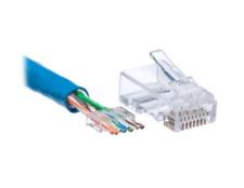 10 Pcs CAT6 Plug EZ RJ45 Network Cable Modular 8P8C Connector