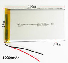 10000mAh 3.7V LiPo polymer Battery For Power cell Bank Tablet PC PAD PDA 8873130