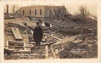 D57/ Omaha Nebraska Ne Real Photo RPPC Postcard 1913 Tornado Disaster Ruins