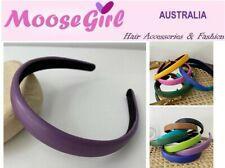 2cm Wide Thinly Padded Leather Headband Women Ladies Girls Alice Band Hair Band