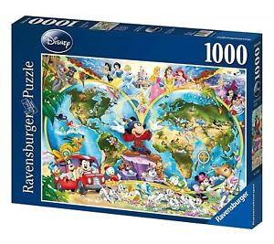 NEW! Ravensburger Disney's World Map 1000pc Puzzle