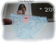 Menglijie-Ladies-Size 10-12-Super Soft-Floral Lace-Bikini-Brief-Heron Blue-BNWT