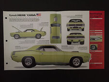1971 PLYMOUTH HEMI 'CUDA IMP Hot Cars Spec Sheet Folder Brochure RARE