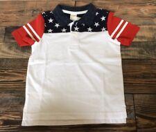 NWT Gymboree Boys FOURTH 4th OF JULY Red White & Blue Flag Polo Shirt Sz 2t