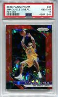 2018-19 Panini Prizm Prizms Red Ice Refractor 35 Shaquille O'Neal PSA 10 GEM MT