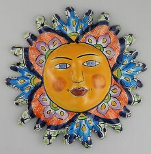Mexican Talavera  Ceramic Sun Face Wall Decor Hanging Pottery Folk Art  # 06