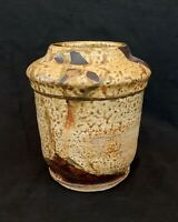 Vintage DAL studio pottery stoneware tan vase 6.5 inches