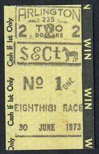 SECRETARIAT - 1973 ARLINGTON INVITATIONAL $2.00 WIN HORSE RACING TOTE TICKET!