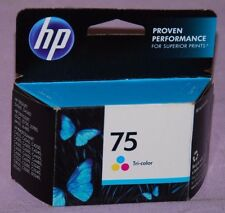 Genuine HP 75 Tri Color Ink Cartridge CB337WN -- New Sealed