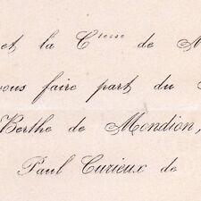 Berthe De Mondion Artigny 1867 Paul Curieux De Fontaine