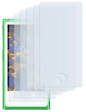 mumbi 6x Folie für Apple iPod Nano 7G Schutzfolie matt Displayschutz Hülle