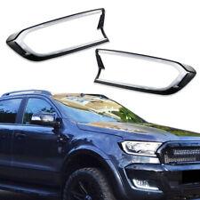 2pcs White LED Headlights DRL Lights Cover Trim For 2015&up Ford Ranger T6 MK2