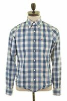 HOLLISTER Mens Shirt Small Blue Check Cotton  EA15