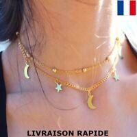 collier pendentif  choker boho original femme bijou anniversaire cadeau soirée