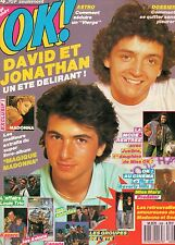 DAVID & JONATHAN * MADONNA  * OK ! TEENAGE MAGAZINE N°606 * Aout 1987