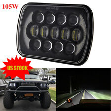 DOT 105W 5x7 7x6'' Black LED Headlight H4 Hid Bulb For Jeep Cherokee XJ YJ H6054