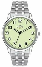 Limit Men's Watch with Luminous Dial and Stainless Steel Bracelet 5685