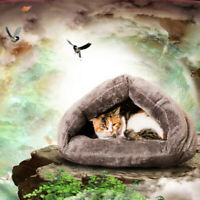 Lit pour Chien Chat d'Hiver Coussin pour Couchage Chauffage de Animaux Gris
