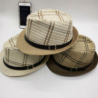 New Fashion Men Women Fedora Hat Sun Straw Summer Beach Cap Panama Styles