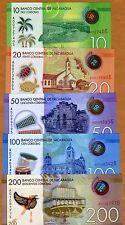 SET Nicaragua, 10;20;50;100;200 cordobas, 2014 (2015) POLYMER New Design, UNC