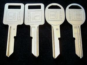 2 GM KEY SETS 1967 1971 75 79 83-86 A/B Chevy Cadillac Oldsmobile Pontiac Buick