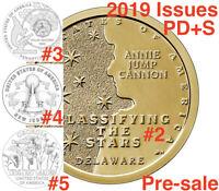 2019 American Innovation PDS PROOF Dollar Complete Set DE PA NJ GA12 Coins P D S