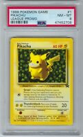 47452708 NM-Mint PSA 8 IVY PIKACHU #1 │ Black Star Promo │ 1999 Vintage Pokémon