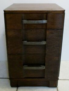 Mid-Century Modern Walnut Three-Drawer Nightstand in Style of Robsjohn-Gibbings