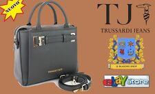 Borsa Donna Trussardi Jeans bauletto Tremblant Grigio Asphalt mano tracolla MODA