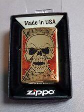 """Zippo """"z-fusion Calavera"""" - High PULIDO Pedrería - NUEVO Y EMB. orig. - #658"""