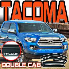 2016-2017 Tacoma Crew Double Cab Window Rain Visors Sun Deflector Vent with Logo