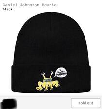Supreme X Daniel Johnston Beanie Hat SS20 Deadstock SOLD OUT Black Hype